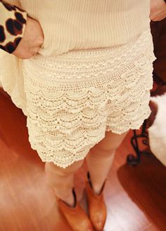 Sweet Middle Waist Lace Shorts for Girls -