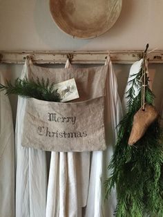 Merry Christmas Pocket small by on Etsy Natural Christmas, Christmas Love, Beautiful Christmas, Winter Christmas, Christmas Crafts, Merry Christmas, Christmas Decorations, Xmas, Snowman Crafts
