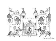 candyland castle coloring pages free - photo#33