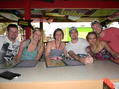 Our first Customers in Señor Frog's Freeport!