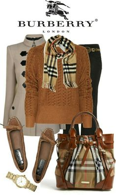 """Burberry"" classy look Fall Fashion Outfits, Casual Fall Outfits, Mode Outfits, Fall Winter Outfits, Look Fashion, Autumn Winter Fashion, Womens Fashion, Fashion Trends, Fashion Sets"