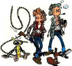 Spirou et Fantasio (Spirou and Fantasio) is one of the most popular classic Franco-Belgian comic strips. The series, which has been running since 1938, and i'm a huge fan.