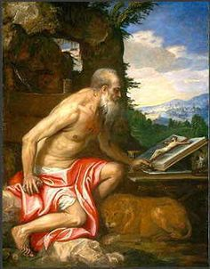 St. Jerome,Roman Christian priest, confessor, theologian and historian, a Doctor of the Church.known for his translation of the Bible into Latin
