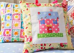 Patchwork cushion inspiration - Helen Philipps