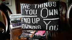 I Am Jack's Decorative Throw Pillow.  The perfect throw pillow for the dystopian fiction lover in your life.  #fightclub #chuckpalahniuk