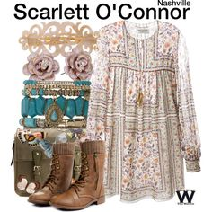 Inspired by Clare Bowen as Scarlett O'Connor on Nashville.