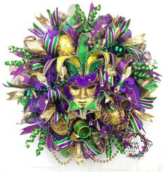 Video How To Make a Deco Mesh Mardi Gras by SouthernCharmWreaths
