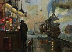 departure. canvas by daxgraffiti