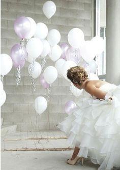 Winter Wonderland Wedding #ido #inspiration #dress #balloons