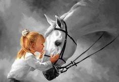 lovin her horse...