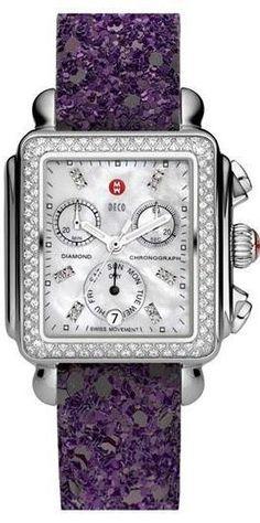 .Purple print watch band