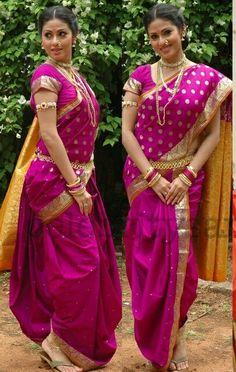 9 wari Pakistani Bridal, Indian Bridal, Traditional Sarees, Traditional Dresses, Indian Attire, Indian Wear, Beautiful Saree, Beautiful Outfits, Saree With Belt