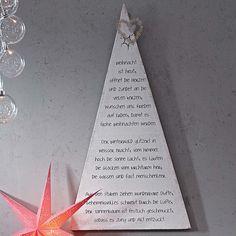 Bild, bedruckt mit einem Weihnachtsgedicht von Doris Zaremba. Grobe Leinwand, auf einen Keilrahmen gespannt und weiß gestrichen .impressionen.de