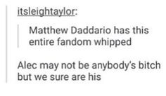 Matthew daddario. Alec Lightwood.