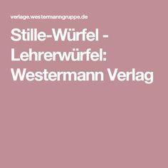 Stille-Würfel - Lehrerwürfel: Westermann Verlag