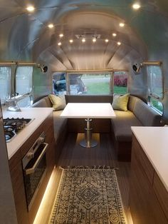 33 Ideas Camping Trailer Interior Airstream Remodel For 2019 Airstream Land Yacht, Airstream Living, Airstream Campers, Airstream Remodel, Airstream Interior, Trailer Interior, Vintage Airstream, Trailer Remodel, Remodeled Campers