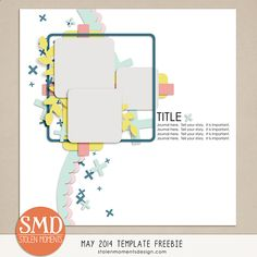Quality DigiScrap Freebies: Template freebie from Stolen Moments Design