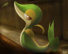 Pokemon: Snivy by ~mark331 on deviantART