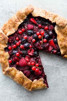 Mixed Berry Galette + 2 years of The Green Life!