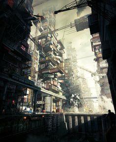 Metallum City (Giants in the Dust) - Sci-Fi Art by Tamas Medve