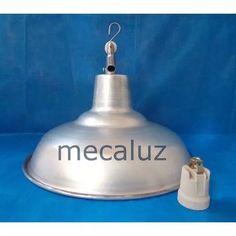 Pantalla De Aluminio,gancho Y Portalamparas Fabrica Mecaluz - $ 170,00