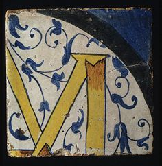 ¤ Panel of Tiles Workshop of Masséot Abaquesne (active 1538–57) Date: ca. 1549–51 Culture: French (Rouen) Medium: Faience (tin-enameled earthenware) Dimensions: (43.8 x 32.4 cm)