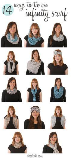 14 ways to tie an infinity scarf
