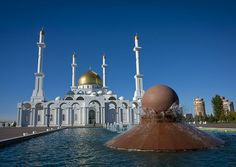 photo by Eric Lafforgue on Flickr. The Nur-Astana Mosque is the largest mosque of Kazakhstan and the biggest mosque in Central Asia. The 40-meter height symbolizes the age of the Prophet Muhammad of...