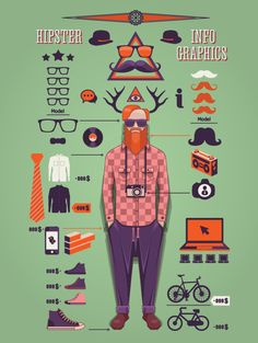 Check this post to better understand the hipster culture. We have described in this post what hipster mean and collected a great hipster infographic poster! Estilo Hipster, Hipsters, Information Graphics, Design Graphique, Web Design, Hipster Fashion, Grafik Design, Pics Art, Data Visualization