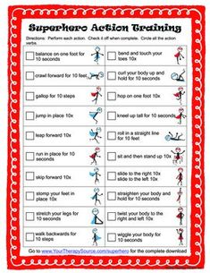 Incorporate movement and learning with this fun worksheet to teach action verbs,  Check out the complete Superhero Action Verb packet.