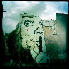 shhh Urban art graffiti   In Paris near Centre Pompidou