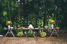 A mesa.