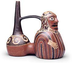 Huari Funerary Bundle  Whistling Vessel