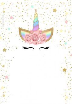 Elegante Unicorn Birthday Invitation Templates Best Of Unicorn with Rainbow Free Printabl. Unicorn Birthday Invitation Templates Be. Unicorn Themed Birthday, Unicorn Birthday Invitations, Birthday Invitation Templates, Party Invitations, Birthday Wallpaper, Free Printable Invitations, Unicorn Baby Shower, Birthday Party Decorations, First Birthdays