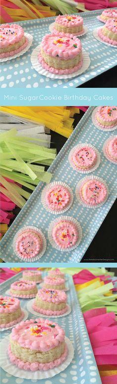 DIY Mini Sugar Cookie Birthday Cakes by Pamela Smerker Designs
