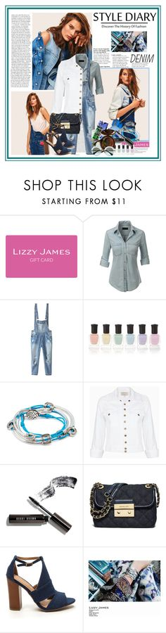 """lizzyjames.com 3...."" by cindy88 ❤ liked on Polyvore featuring ASOS, Lizzy James, LE3NO, Relaxfeel, Deborah Lippmann, Current/Elliott, Bobbi Brown Cosmetics, MICHAEL Michael Kors, denim and lizzyjames"