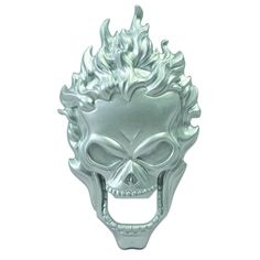 Marvel Ghost Rider Bottle Opener - Ignite the spark to the party with this Ghost Rider bottle opener. Made of solid metal, this opener features a magnet on the back to easily display on the refrigerator. http://www.overstock.com/Home-Garden/Marvel-Ghost-Rider-Bottle-Opener/8474575/product.html?CID=214117 $21.99