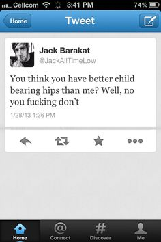 All Time Low. This is why I love them. lol. Oh Jack.