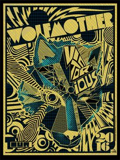 Wolfmother Gig Poster by Mark Sgarbossa. Tour Posters, Band Posters, Music Posters, Concert Posters, Gig Poster, Stoner Rock, Elements And Principles, Music Artwork, Screen Printing