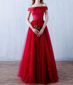 1950s Vintage Inspired Off Shoulder Prom Evening Dress