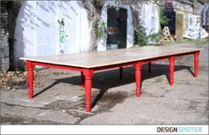recycled scaffolding board table