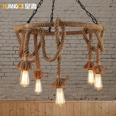 101.75$  Buy now - http://alir6j.worldwells.pw/go.php?t=32717608403 - Huang's wife loft Nordic retro lamps American country hemp clothing store Cafe chandelier Chandelier 101.75$