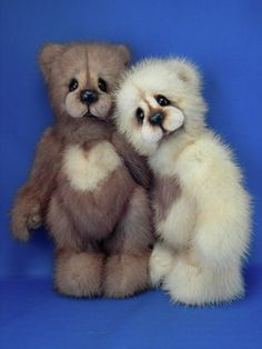 Vintage Mink Bears by Kathy Myers - Home
