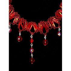 ee5b3f354 Souprava šperků Korálky Janka červený plesový náhrdelník s naušnicemi