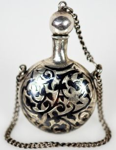 Sterling Silver Russion Perfume Bottle