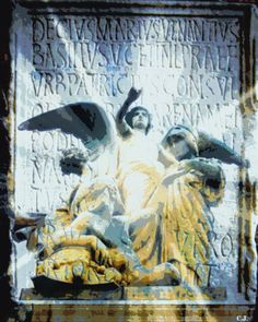 Digital collage by C. J. Beckingham.  Image from personal photographs taken in Italy, 2014.  Copyright 2014.
