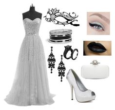 """""""Masquerade Ball Lily"""" by songbird-the-outcast ❤ liked on Polyvore featuring GUESS and Oscar de la Renta"""