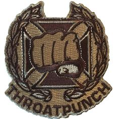 Throat Punch - Embroidered Morale Patch Tactical Patches b240812c097c
