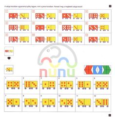 mini loco / mini-luk-tizig-szamolok Mini, Preschool Activities, Teaching, Creative, Addition And Subtraction, Index Cards, Activities, Montessori Kindergarten, School