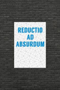 Science art - Mathematics - Reductio ad absurdum & Pinwheel tilings by frameitposters
